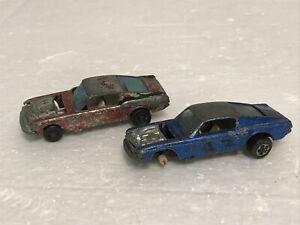hot wheels redline Ford Custom Mustang Beater Lot Red Blue