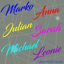Aufkleber mit Name für Jungs und Mädchen - Name und Farbe auf Wunsch - Auto Wand