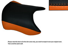 BLACK & ORANGE CUSTOM FITS KTM RC 125 14-16 FRONT LEATHER SEAT COVER