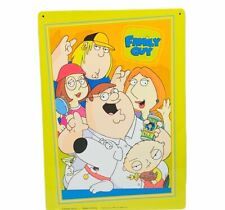 Family Guy tin sign Peter Griffin Stewie Brian Fox 12X8 wall hanging decor gift