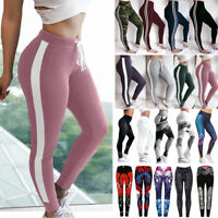 Women High Waist Sports Yoga Pants Printed Fitness Gym Leggings Stretch Trousers