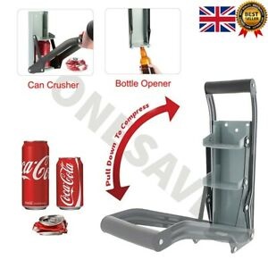 16oz 500ML Large Tin Beer CAN CRUSHER WALL MOUNTED Bottle Opener Recycling Tool