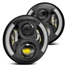 7 Inch Round LED Headlights Halo Angle Eyes For Jeep JK TJ CJ Series CJ5 CJ6 CJ7