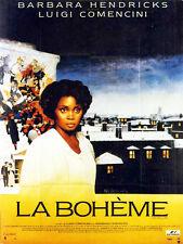 Affiche 120x160cm LA BOHÈME 1987 Comencini, Barbara Hendricks, José Carreras TBE