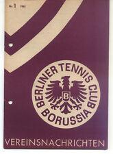 Tennis Borussia Berlin - Vereinsnachrichten - Januar 1961