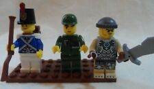 Lego lot of 3 Military Soldier Minifigures