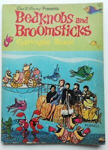 Rare Vintage Colouring Book - Walt Disney's BEDKNOBS AND BROOMSTICKS 1971