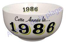 Bol année de naissance 1986 en grès - idée cadeau anniversaire neuf