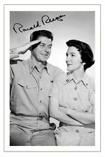 RONALD REAGAN HELLCATS OF THE NAVY AUTOGRAPH SIGNED PHOTO PRINT POSTER