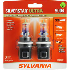 2-PK SYLVANIA 9004 SilverStar Ultra High Performance Halogen Headlight Bulb