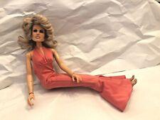 """1976 vintage mego Farrah Charlies Angels celebrity Barbie doll 13"""""""