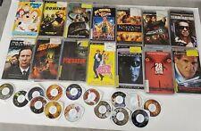 Lot of 30+ PSP UMD Movies- Ghostbusters, Terminator, Aliens, Predator, Animal
