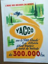 AFFICHE ANCIENNE AUTOMOBILE HUILE YACCO ROSALIE CITROEN GARAGE M COLLET 1956