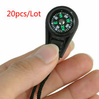 20pcs Mini Portable Compass Survival Hiking Camping Direction Outdoor Useful NEW