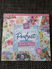 """Hunkydory Picture Perfect 8"""" X 8"""" Paper Pad  - Beautiful Blooms"""