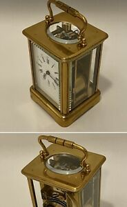Antique French Striking Carriage Clock Repeater 8 Days Movement
