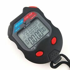 Large 3 Row Display 60 split Professional Memory Handheld Stopwatch Timer C560