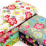 100% Cotton Fabric by FQ Hawaii Floral Retro Print Quilting Patchwork Time VK102