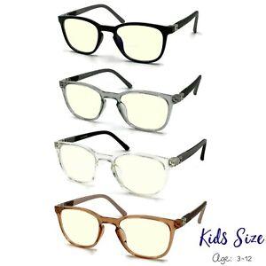 Kids Child Blue Light Blocking Glasses Gaming Computer Reading Anti Eye Strain