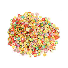 1000pcs DIY Fruit Fimo Polymer Clay Slices Nail Art Sticker Tip Decorations Dexd