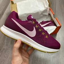 WOMENS NIKE AIR ZOOM PEGASUS 34 BERRY PLUM RUNNING TRAINERS SIZE UK5.5 US8 EUR39