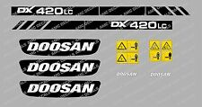 DOOSAN DX420LC DIGGER DECAL STICKER SET