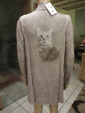 Süßer  Longcardigan von Lola Paltinger mit Katzenmotiv Gr.36
