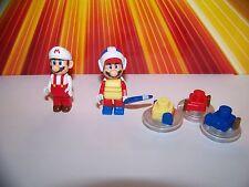 Mario K'nex Lot 2 Mario Figures Boomerang Mario + Fire Mario Lego Compatible