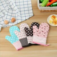 Kitchen Cotton Oven Glove Mittens Heat Resistant Cooking Microwave Pot Holder