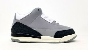 832033-006 Nike Toddler Jordan 3 Retro TD Lt Smoke Grey/Chlorophyll