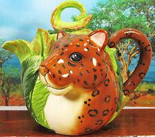 Leopard in the Jungle Porcelain Tea Pot Wildlife Kitchenware