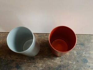 Perma Hues Vintage Aluminum Tumblers. Rust and Silver. Great condition.