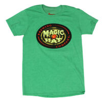 MAGIC HAT Brewery Brewing Company Green Men's T-Shirt Tee size Small