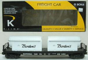 K-Line K691-8013 Flatcar w/ Borden's Milk Containers NIB