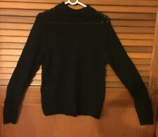 Woman's Size 8 FUSS knitted wool & angora black jumper pullover