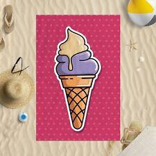 147cmx99.1cm colorato gelato ROSA PUNTI MICROFIBRA TELO MARE SOLE NUOTO PISCINA