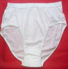 2 Pair Women's Pink Stripe Size 11 / XXXL Incontinence High Leg Panty Cotton USA