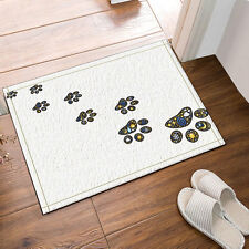 Kitchen Bath Bathroom Shower Floor Home Door Mat Rug Non-Slip Dog footprints