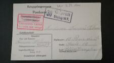 POW LETTRE WW2 STALAG VI F BOCHOLT / BOEN LOIRE FILLOUX PRISONNIER GUERRE 1941