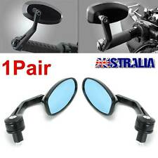"Pair 7/8"" Universal Motorcycle Handle Bar End Rear Side View Mirrors Cafe Racer"
