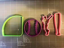 Baseball Cookie Cutters Set Of 4