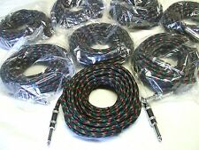 8x Guitar Lead 10m Jack to Jack Instrument Cable Noise Free 10 meter cord