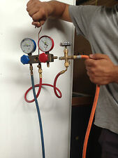 PROPANE LPG TANK GAS ADAPTER HOSE FOR REFRIGERATION A/C ORANGE HOSE ONLY