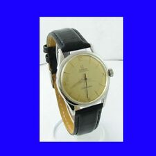 Mint Steel Omega SeaMaster Bumper Gents Wrist Watch 1954