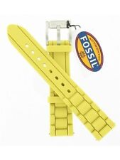 Fossil Watch Strap ESS140 Silicone 18mm Watch Strap - Citrus Yellow