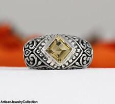 CITRINE & .925 Sterling Silver BALI RING Size ~7