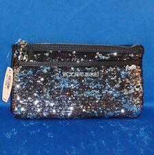 Victoria's Secret Black Sequin Purse Clutch Bag Limited Edition 2012