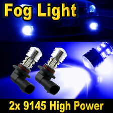2x H10 20-SMD LED High Power Driving Fog Light Bulbs Ultra Blue 9040 9055