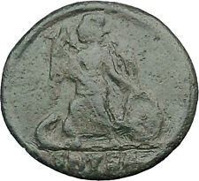 Constantine I The Great founds Constantinople Ancient Roman Coin Nike i32477