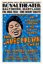 1960's Raw Soul: James Brown at  Baltimore Concert Poster 1963 15x23
